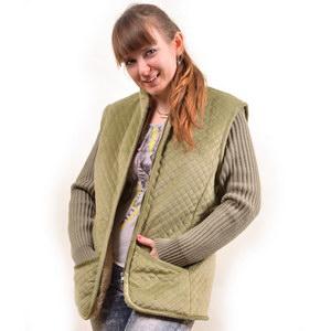 Куртка с вязанными рукавами и велюровым верхом