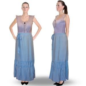 длинная юбка «лазурь» женский трикотаж 4653