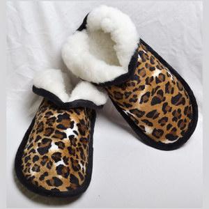 Тапочки «МЕРКУРЫ» из меха «Леопард»