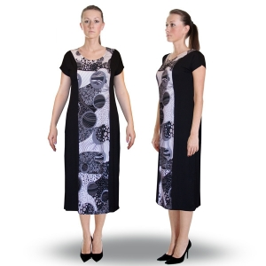платье  «ночь» женский трикотаж 527