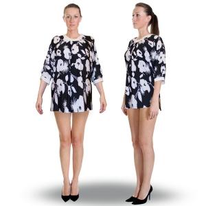 блуза «день и ночь» женский трикотаж 580 (черный)