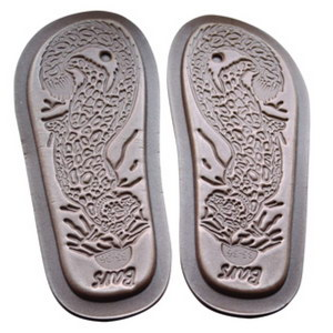 тапочки меховые «шузы» с велюровым верхом 274 (серый)