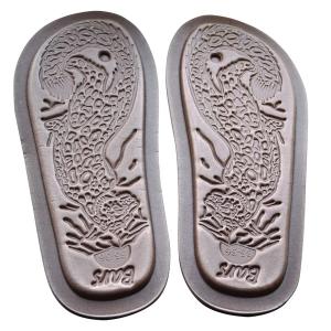 домашние «тапочки-сапожки» из овечьего меха, с вязанным верхом 332 (мурена) подошва