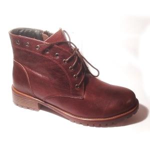 Ботинки осенние из кожи DON GEO (коричневые)