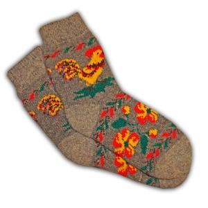 «ПЕТУШОК» Вязаные шерстяные носки