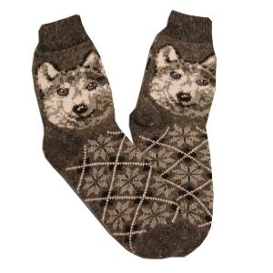 «СЕРЫЕ ВОЛКИ» Вязаные шерстяные носки