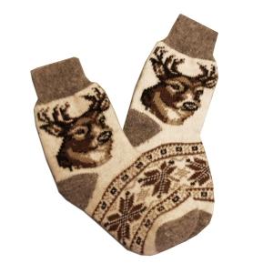 «ОЛЕНЬ» Вязаные шерстяные носки
