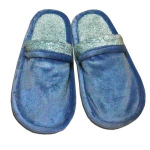 голубые тапочки из велюра чудо